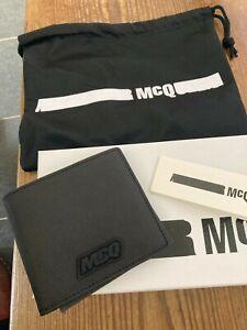 Alexander Mcqueen Bifold black leather wallet bnib