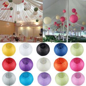 "Colorful ""8"" 10"" 12""  Round Paper Lanterns Lamp Wedding Birthday Party Decor"