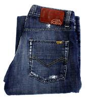 Energie Mens Jeans Joe Caputo Mid Rise Straight Leg Denim Blue Italy Size 30x34