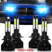 hielo Luces Fuertes Para Auto Coche Luz Carro Bulbs 9005+9006 LED 8000K Haz bajo
