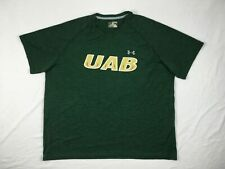 Under Armour UAB Blazers - Men's Green HeatGear Short Sleeve Shirt (2XL) - Used