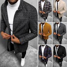 Wintermantel Mantel Sakko Jacke Coat Stehkragen Casual Classic OZONEE 28Z Herren
