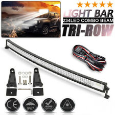52'' Inch 702W LED Work Light Bar Curved Combo Offroad Lamp Car Truck Boat+ Wire