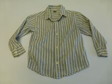 Gymboree Boys Size 5 Ivory Blue & Black Striped Dress Shirt Great Condition