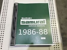 Suzuki Samurai Factory Service Repair Shop Manual 1986 1987 & 1988 NEW 86 87 88