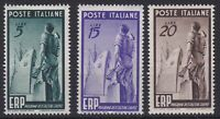 ITL084) Italy 1949, set of 3, ERP - Help, MLH