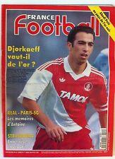 France Football du 1/3/1994; Djorkaeff vaut-il de l'or ?/ Real PSG/ Abedi Pelé