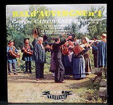 7'' 17 cm Georges Cantournet Bal d'Auvergne n°1 Festival  FY 2123 LP EX, CV NM -