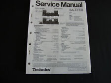 Original Service Manual Technics Receiver SA-EH50
