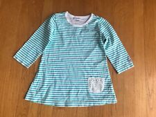NAARTJIE Aqua Stripe Long Sleeve Lace Pocket Top Tee 6