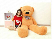 90'' Giant Huge Brown Teddy Bear Soft Plush Doll Big Stuffed Animal Toy Kid Gift