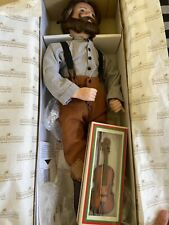 Little House On The Prairie Pa Ingalls Doll Ashton Drake W/ Box and Fiddle