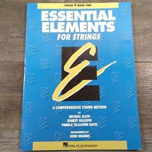 Violin Book Two Essential Elements for Strings Violin Hal Leonard Book 2
