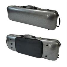 Strong Carbon fiber coded lock Dark gray 4/4 violin case with Spectrum bag