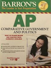 AP COMPARATIVE GOVERNMENT AND POLITICS REVIEW BOOK BARRONS 2016 MINT DEAL