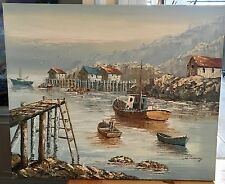 ORIGINAL OIL PAINTING ON CANVAS WILLIAM CONWAY 61 X 51 cm  PEGGY'S COVE NS