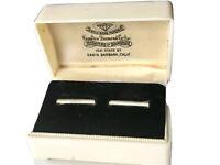 Vintage HAMILTON Plastic Celluloid Bakelite? Double Wedding Engagement Ring Box