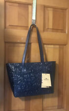 Patricia Nash Varsi Leather Tote Tooled Cobalt (Navy) Nwt - Beautiful Color!