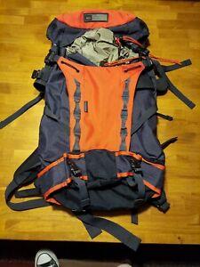 REI Double Diamond Hiking Backpack Internal Frame Orange Black