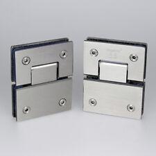 A Pair Stainless Steel 180° Frameless Glass to Glass Shower Door Hinge Bracket