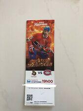 unused hockey tickets Montreal Canadiens 2017 season De La Rose