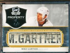 2013-14 THE CUP PROPERTY OF MIKE GARTNER GAME USED STICK NAMEPLATE 1/1 HOF