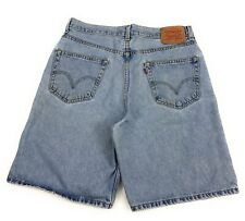 Levi's 550 Relaxed Fit Mid Length Classic Rise Blue Jean Shorts Men's 34