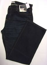 NWT Abercrombie & Fitch Men's Bootcut Dark Wash Jeans 38 x 32