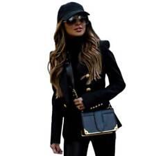 Womens Long Sleeve Slim Blazer Suit Coat Ladies Workwear Office Jacket Plus Size