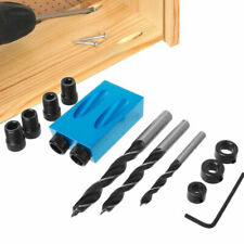 14 Pcs Diy Pocket Hole Jig Kit Tools Easy Drill System Woodworking Screw Drill