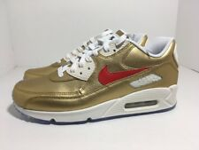 Nike Air Max 90 ID Gold Red Sail 931902-994 Men's Shoes Size 10