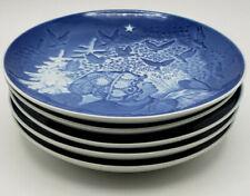 Five Bing & Grondahl B & G Denmark Christmas Plates-Gorgeous!