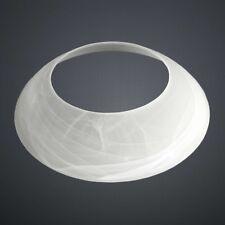 Lampenschirm, Ersatzglas, Glasschirm, Deckenfluter, Fluterschale Alabaster weiß