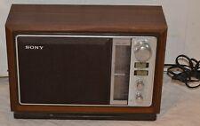 Vintage Sony ICF-9740W 2-Band AM/FM Radio Simulated Wood Cabinet