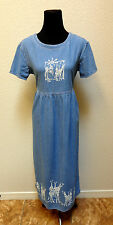 WOMENS CALIFORNIA CONCEPTS BLUE DENIM DRESS SIZE 6 (MEDIUM) FITS LIKE A LARGE