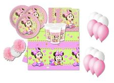 KIT COMPLEANNO N.49 MINNIE BABY DISNEY FLUFFY NASCITA BATTESIMO PARTY PALLONCINI