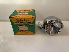 Antique Bicycle Headlamp, Sankyo Cycle Battery Lamp DL-350, Orig. Box