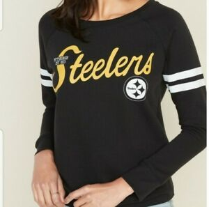 New NFL Pittsburg Steelers Sweatshirt Sweater Top Team Fan Apparel Football Top