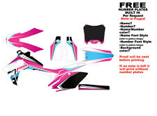 """DFR CRF250R GRAPHICS """"BUTTER"""" ELECTRIC COLORS 2010-2013 CRF 250 HONDA"""