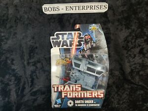 2012 Star Wars Transformers Darth Vader Tie X1 Starfigter COOL FIGURE TR-1