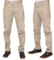 Mens New Jeans EM504 Stone Cream Tapered Leg Pants Bargain Trousers