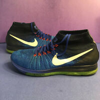 Nike Zoom All Out Flyknit Mens Size 13 #844134-401 Shoes Racer Blue Running