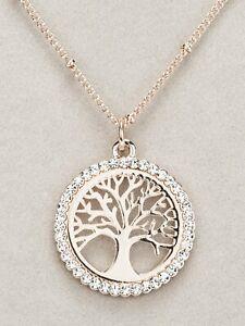 Newgrange Living Rose Gold Tree of Life Pendant Necklace (60007)