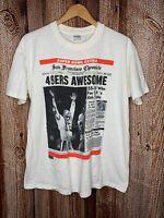 Vintage '90 San Francisco Chronicle 49ers Niners Joe Montana Super Bowl Shirt XL