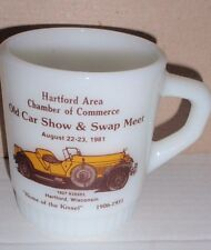 VINTAGE 1981 FIRE-KING ADVERTISING MUG HARTFORD WISC CAR SHOW HOME OF THE KISSEL