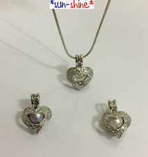 SAVE! 5pcs SMALL HEART Locket Pendant for Akoya Oyster Pearl