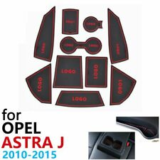 Anti-Slip Rubber Cup Cushion Door Groove Mat For Opel Astra J Vauxhall Holden