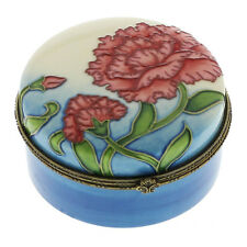 Old Tupton Ware  Carnation Flower Design - Round Trinket Box NEW