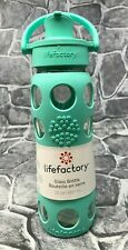 Lifefactory 22 Oz. Water Bottle with Silicone Sleeve Teal New Free Shipping