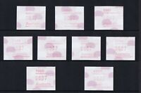 F7 Australian Decimal Stamps 1987 37c Echidna Frama Capital City Postcode Set 9